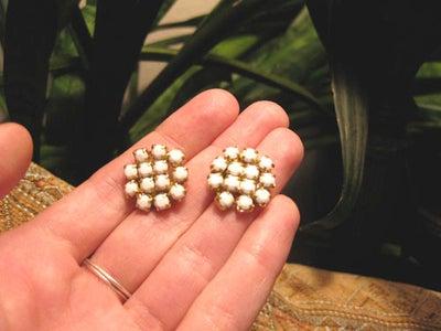 DIY Rhinestone Trim Earrings
