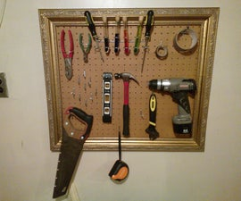 Picture Frame Tool Pegboard