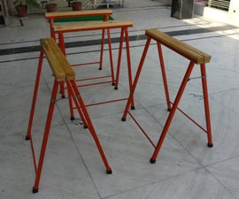 DIY Foldable Steel and Wood Sawhorse Build