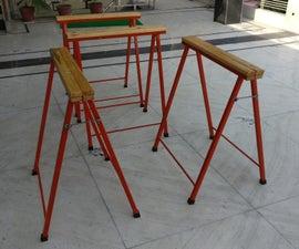 DIY Foldable Steel and Wood Sawhorse Build