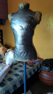 Stuffing the Tape Dress Form