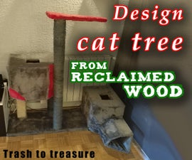 Reclaimed Wood DIY Design Cat Tree