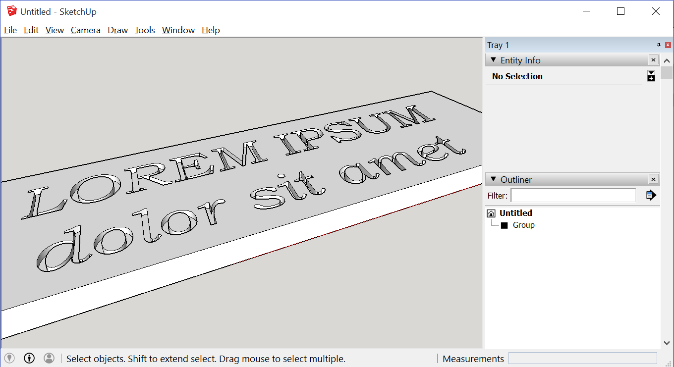Engrave 3D Text With Sketchup: 4 Steps (with Pictures)