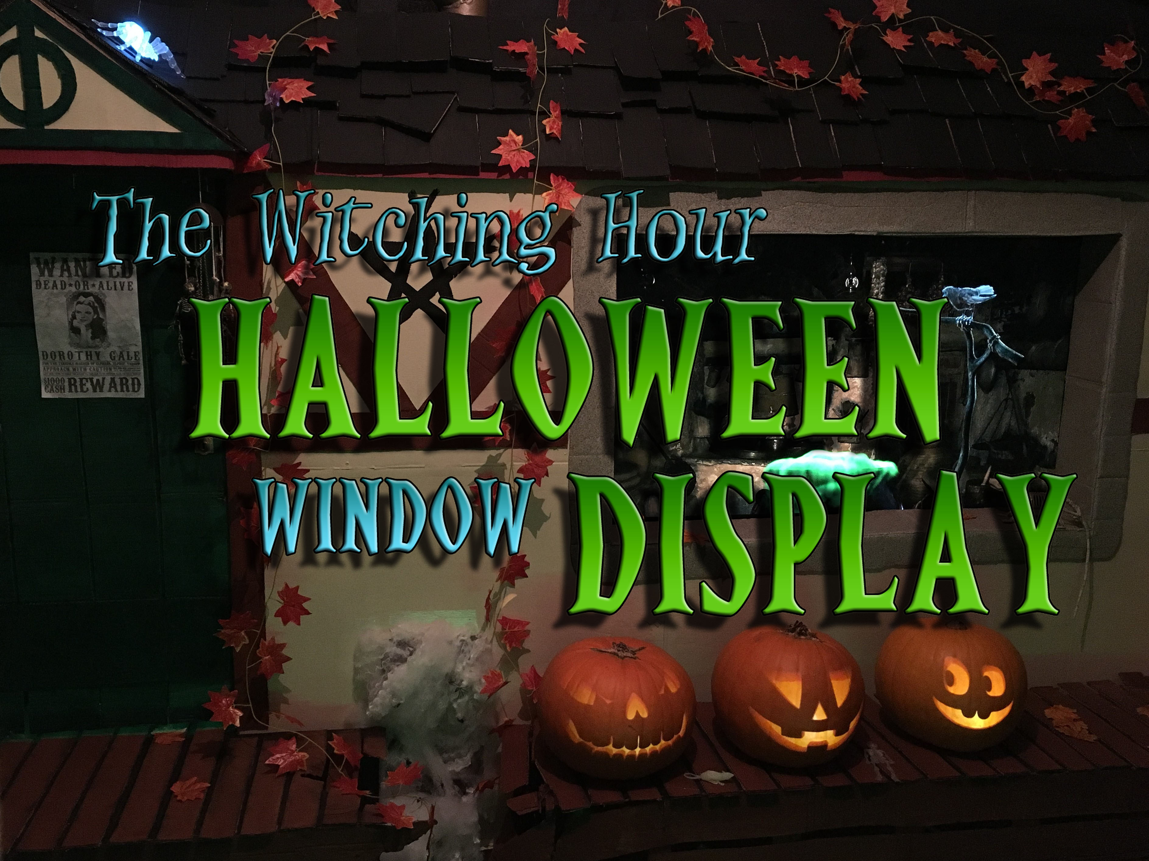 Picture of The Witching Hour Halloween Window Display