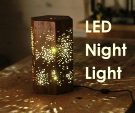 Making an LED Night Light W/ Star Pattern