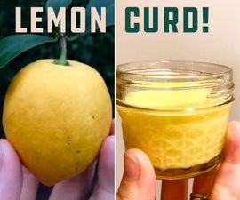 Organic Backyard Lemon Curd