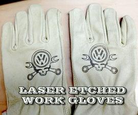 Laser Etch Leather Gloves