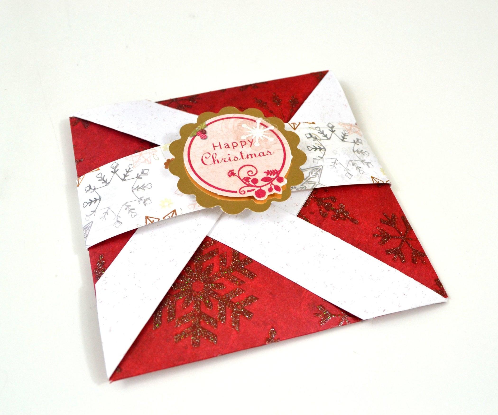 Pop Up Card How To Make Pinwheel Folding Card For Christmas 16