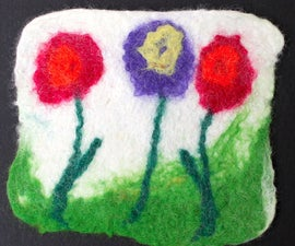 Easy Felted Coaster - Kid Project