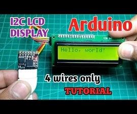 I2C / IIC LCD Display   Convert a SPI LCD to the I2C LCD Display