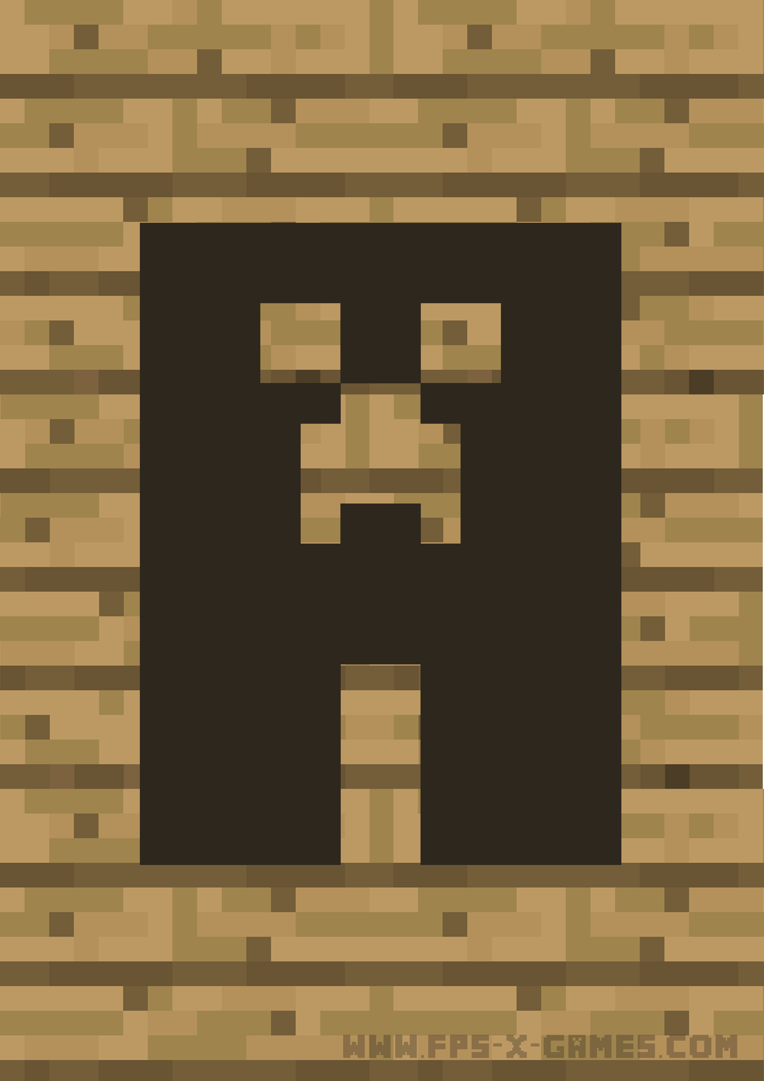 Picture of Minecraft Printable Happy Birthday Banner