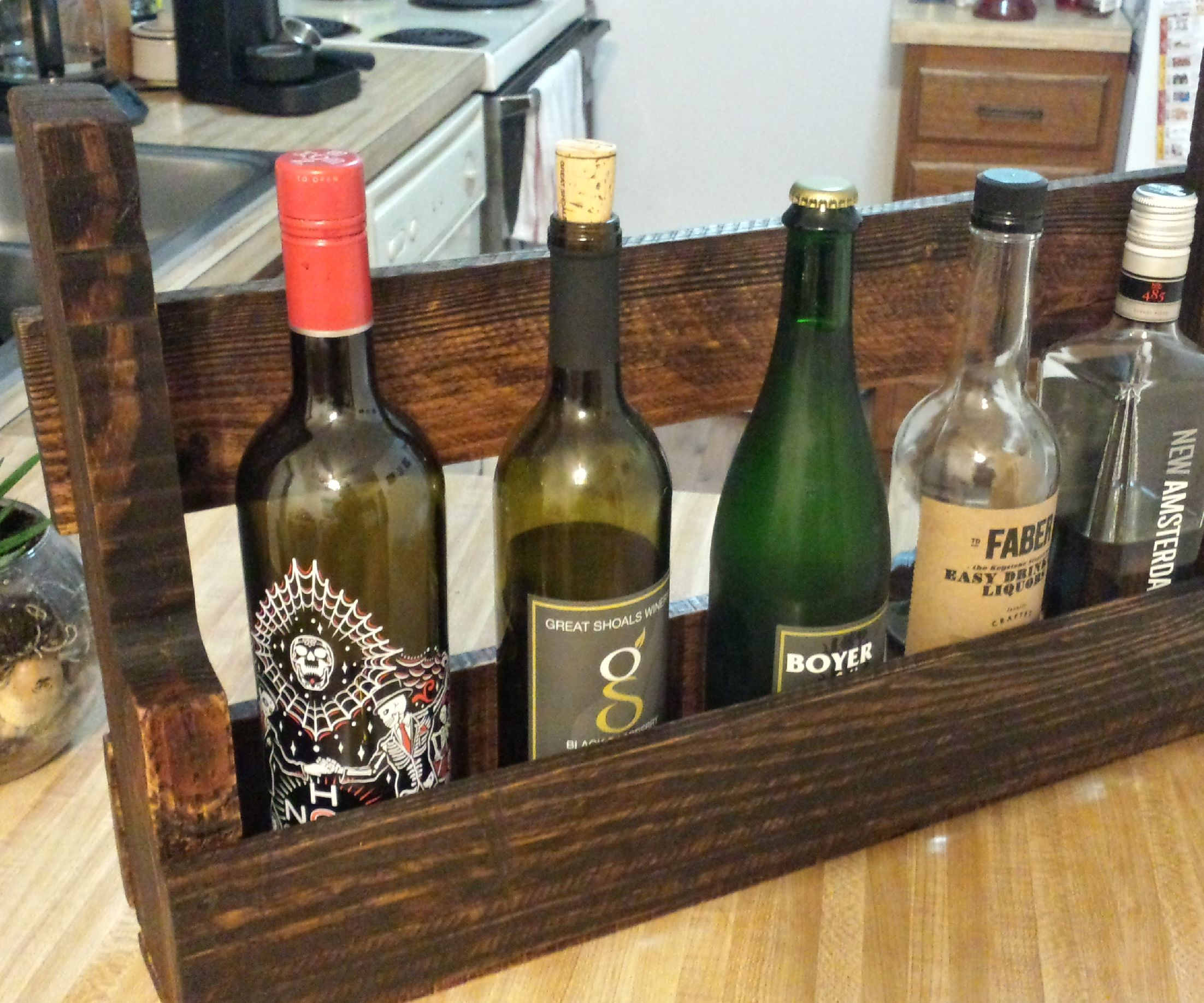 Diy Reclaimed Pallet Shelf Bottle Rack 11 Steps With Pictures