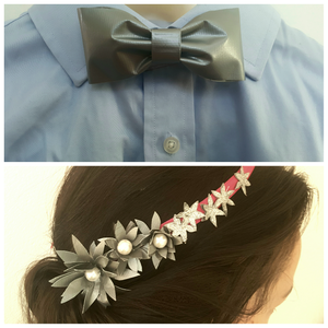 Bow Tie and Hair Piece Out of Duct Tape