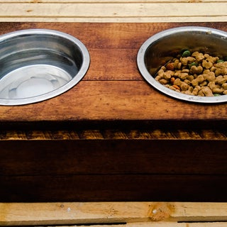 Pallet Wood Dog Bowl Stand