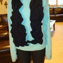 Felted Wool Ruffle Scarf (Upcycled from Wool Pants)