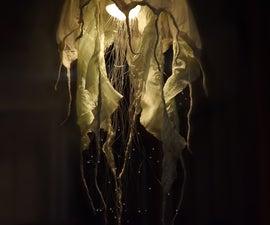 DIY Fiber Optic Jellyfish Chandelier