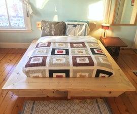 Modern Platform Bed // Hand Tools + Framing Lumber