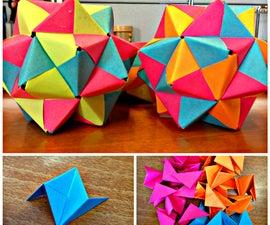 Post-It Origami Icosahedron