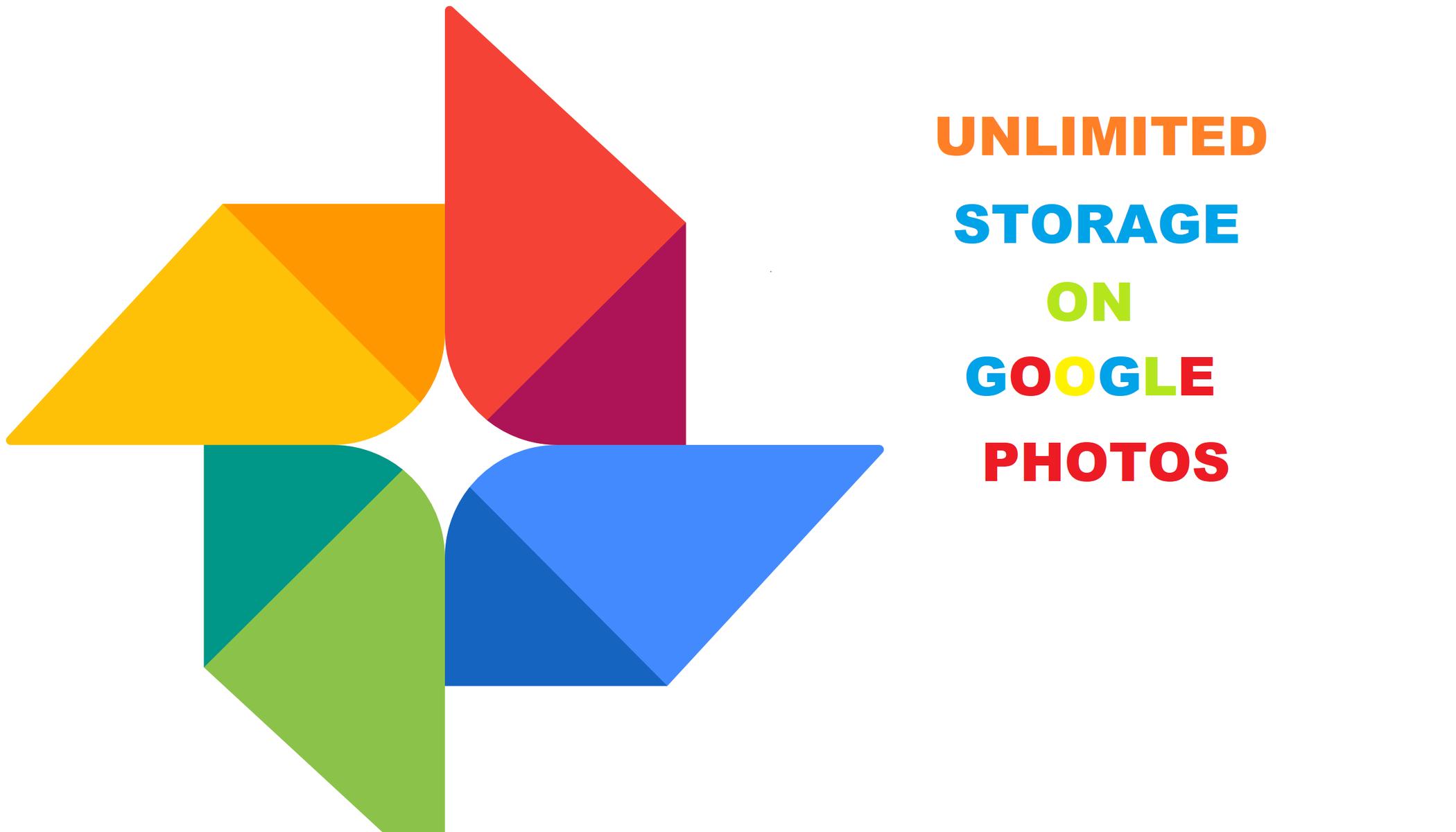 google photos unlimited storage