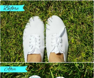Turn Your White Canvas Shoes Into Colourful Triple Toned Striped Shoes Using Dye