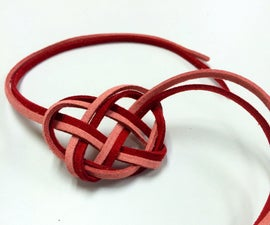 Leather Celtic Heart Knot