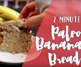 2 Minute Paleo Banana Bread