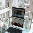 Ergonomic Laptop Stand Made From a Coat Hanger