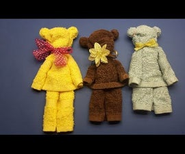 How to make teddy bear from towel