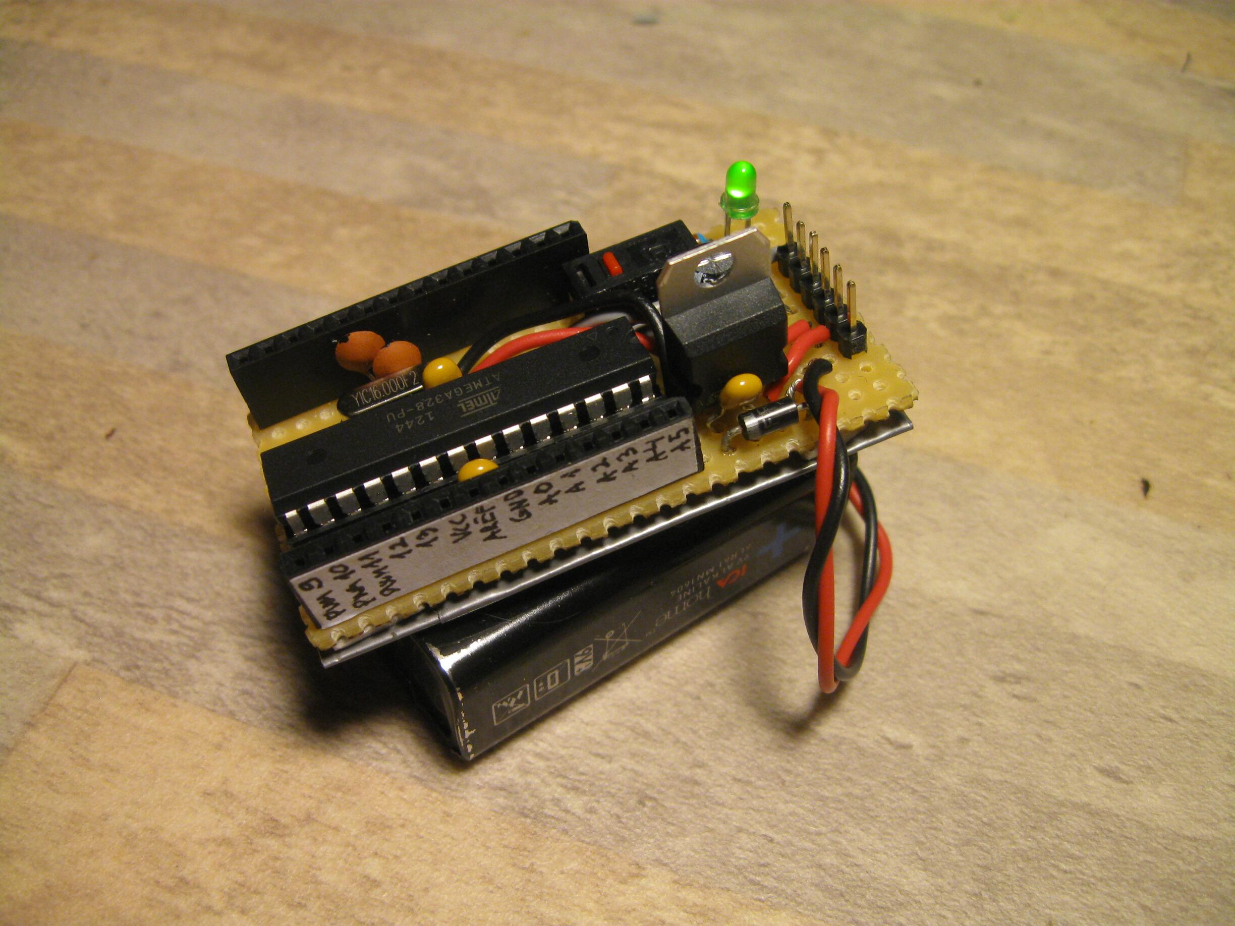 Picture of Small Form Factor DIY Arduino on Stripboard