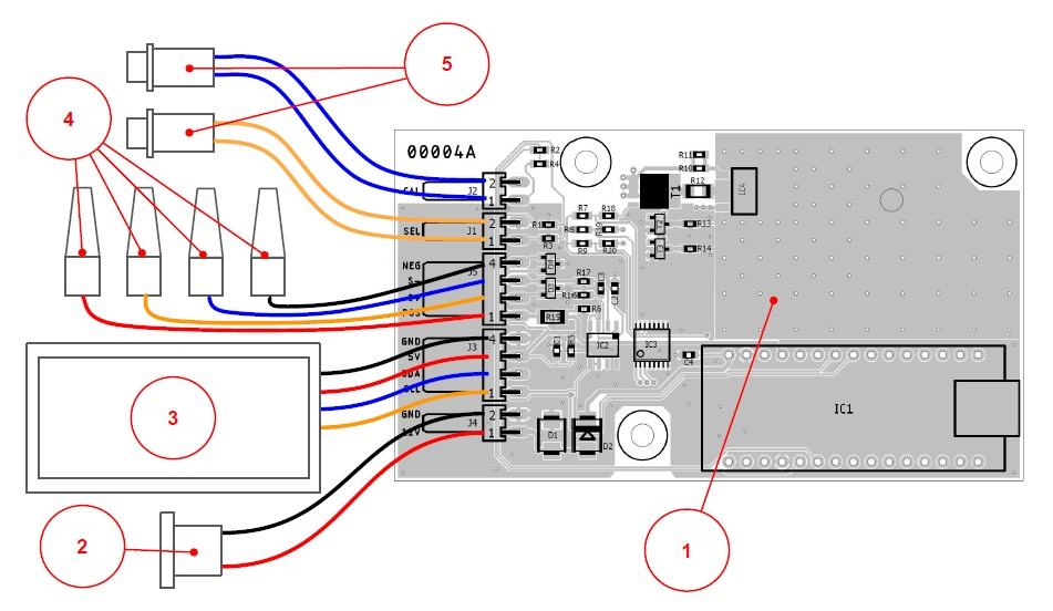 Picture of Parts and Wiring Diagram