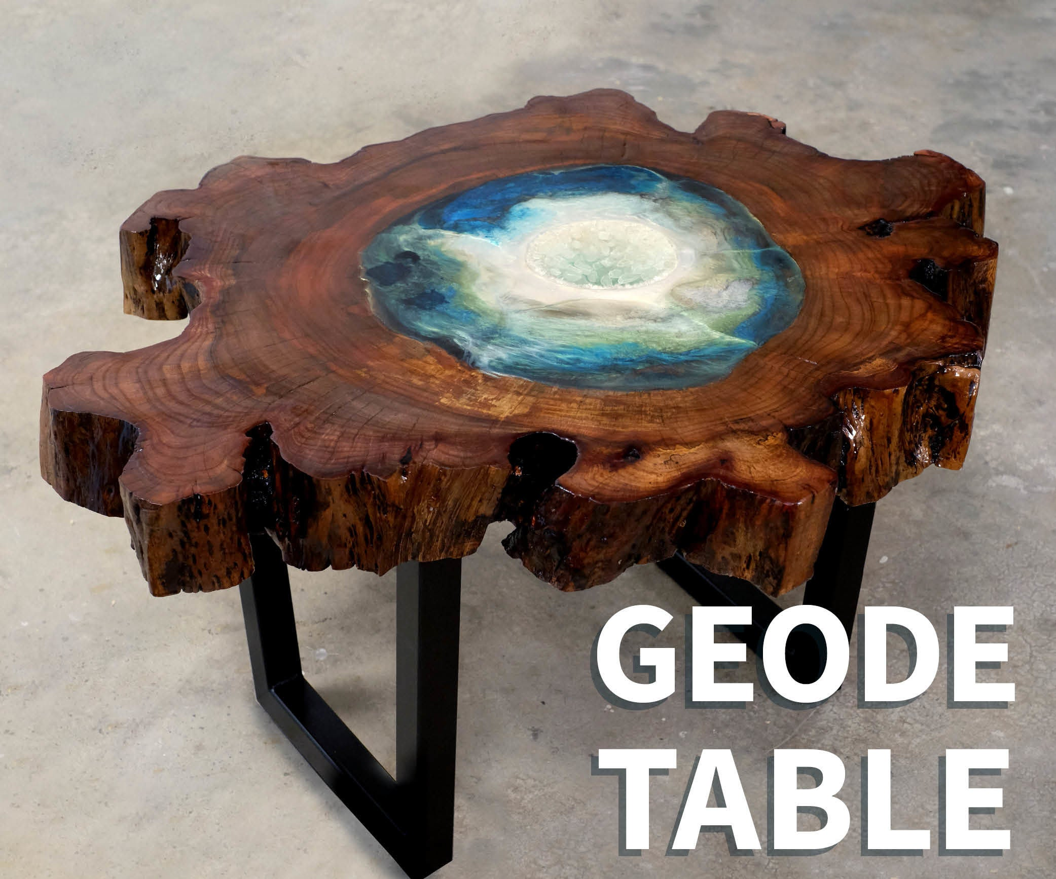 Wood Amp Resin Geode Table 8 Steps With Pictures