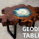 Wood & Resin Geode Table
