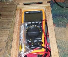 Wood box for digital multimeter - Caixa de madeira para multímetro digital
