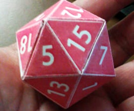 How to Make a Cardstock d20 (with a printer)