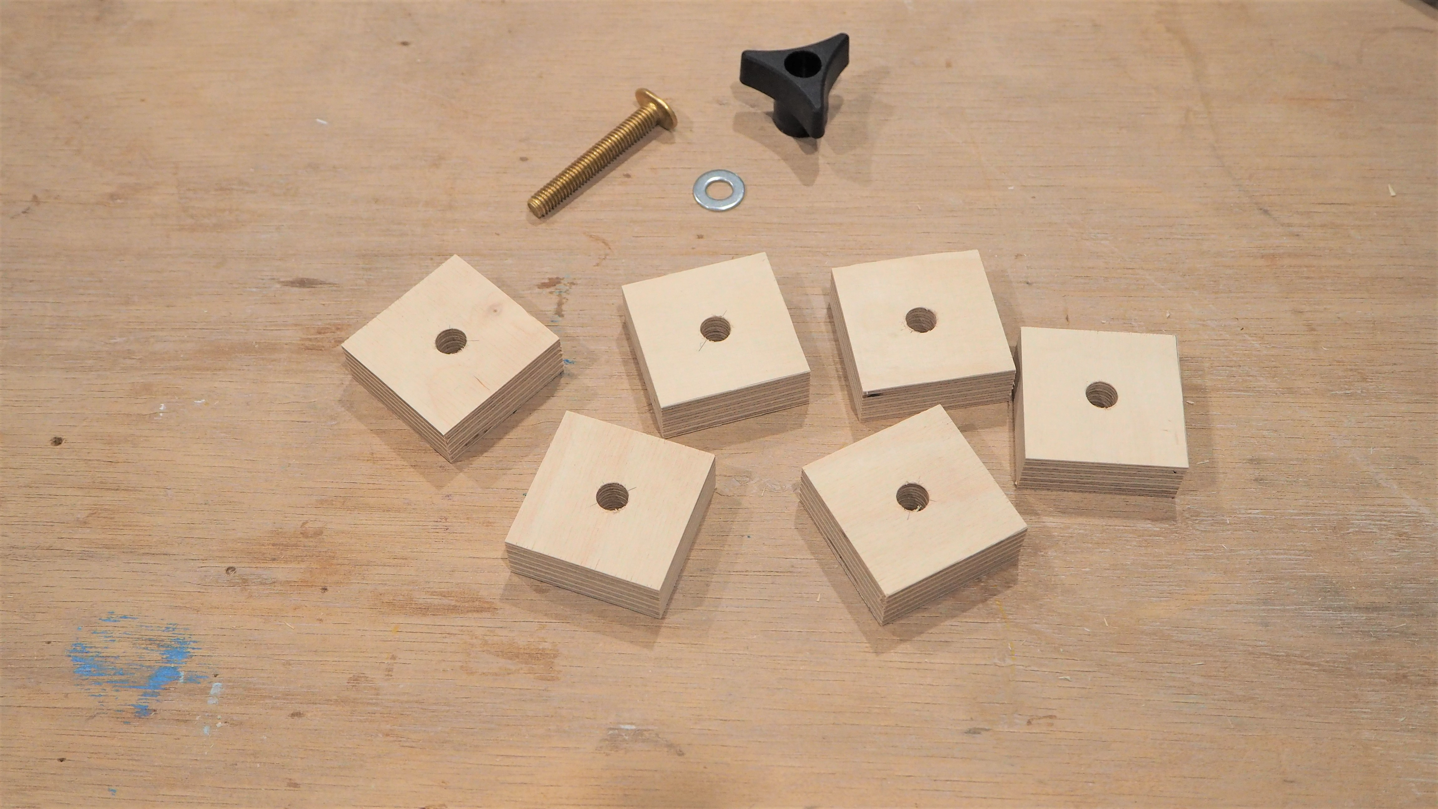 Picture of Stop Blocks and Hold Down Clamps