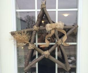 DIY Rustic Star Wreath