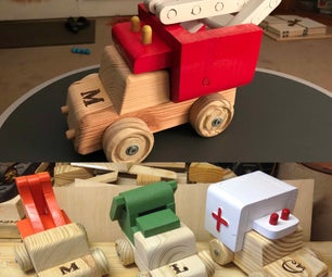 Interchangle Toy Trucks (Reclaimed)