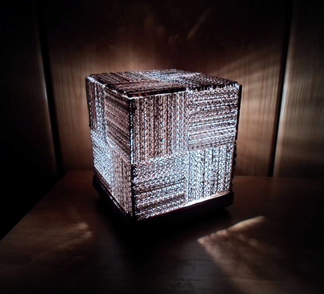 Picture of Cube Cardboard Lamp