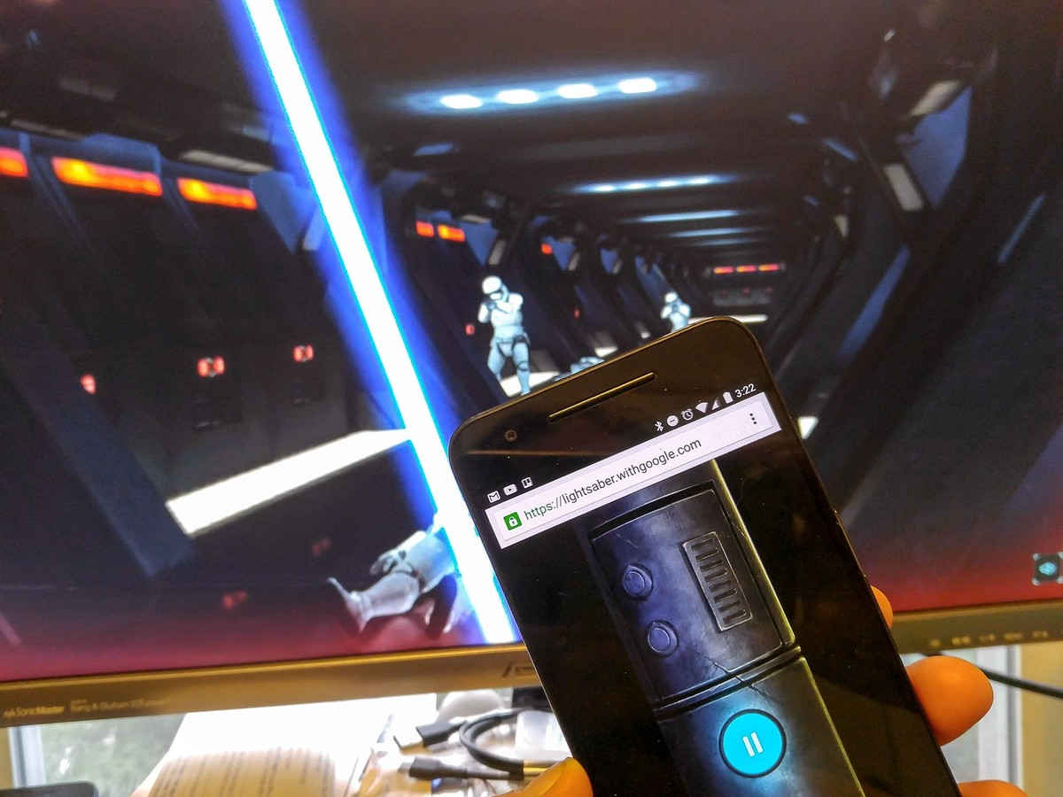 Picture of Turn Smartphone Into Lightsaber Console for Lighsaber Escape Game