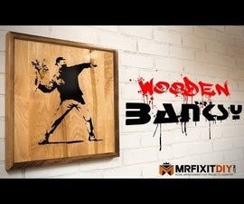 Wooden Banksy Wall Art