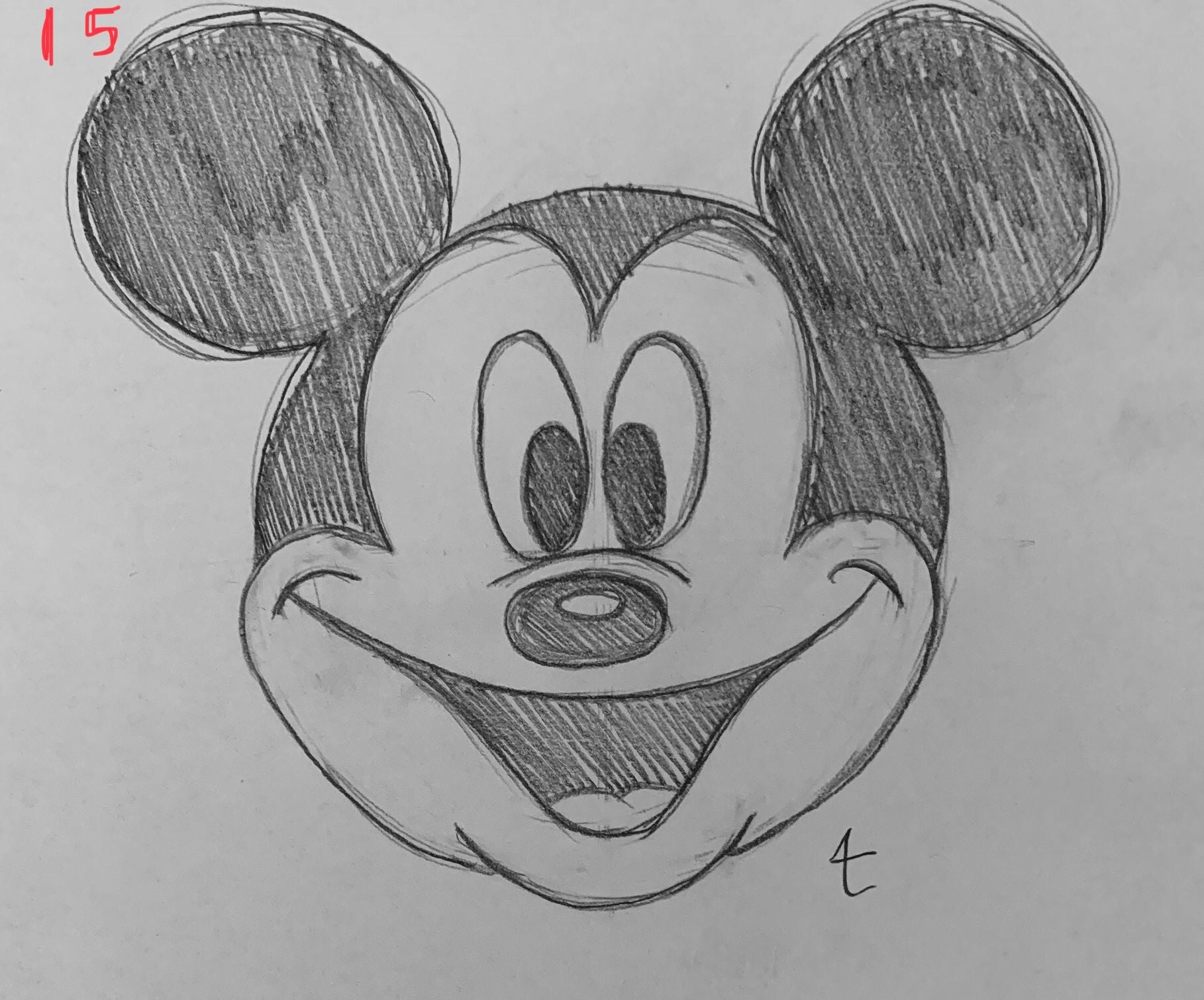 How To Draw Mickey Mouse 15 Steps Instructables