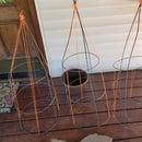 Pea Trellis Made From Tomato Cage