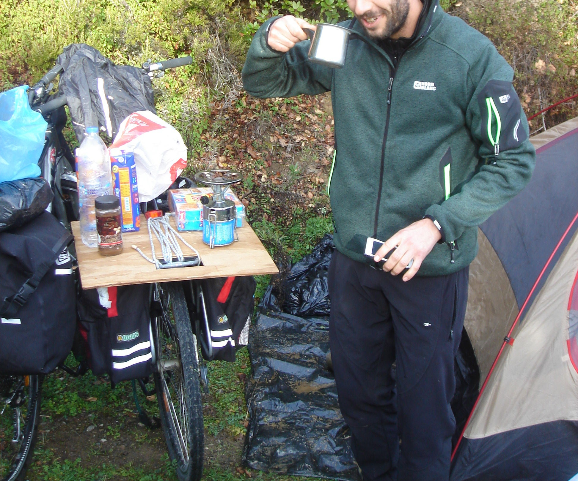 The Bike Table (aka Rackatabla) – or How to Bike Tour With Your Hiking Backpack
