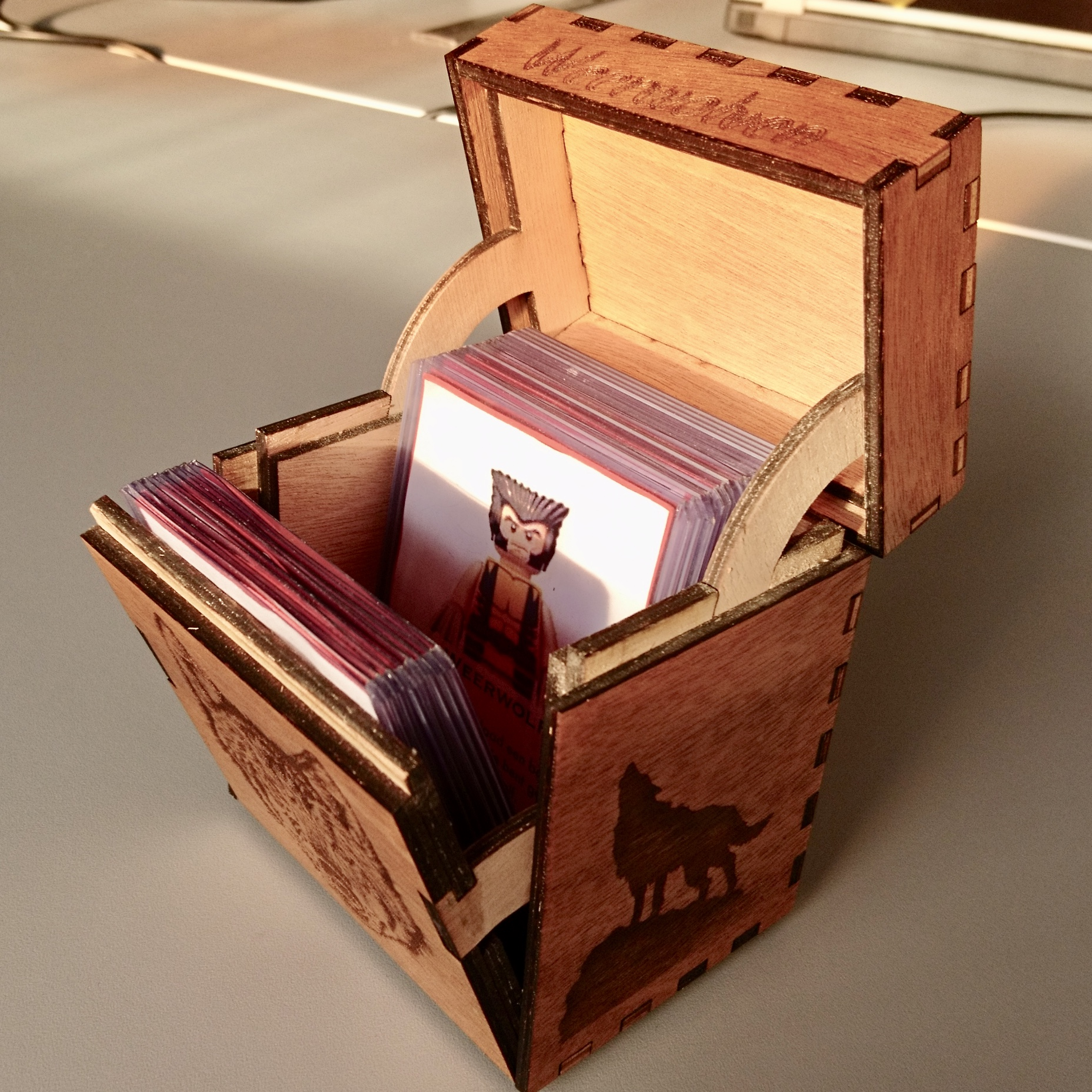 Picture of Laser Cut Game Card Box With Internal Hinges