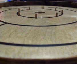 Portable Miniature Crokinole Boardgame