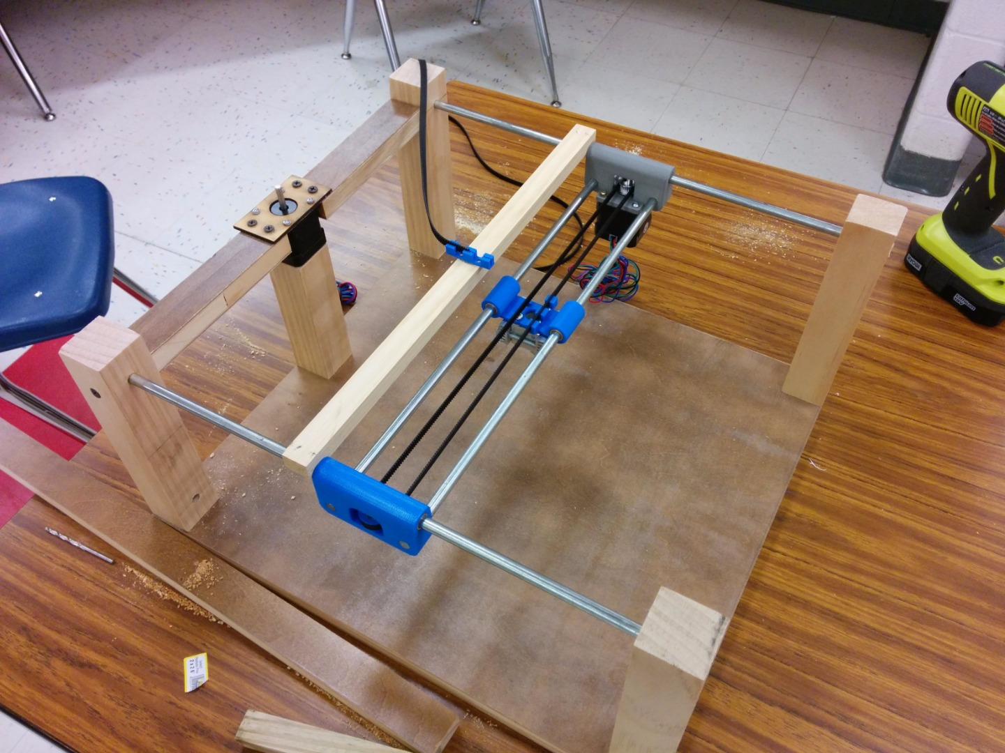 Picture of Constructing the Frame and X-Axis