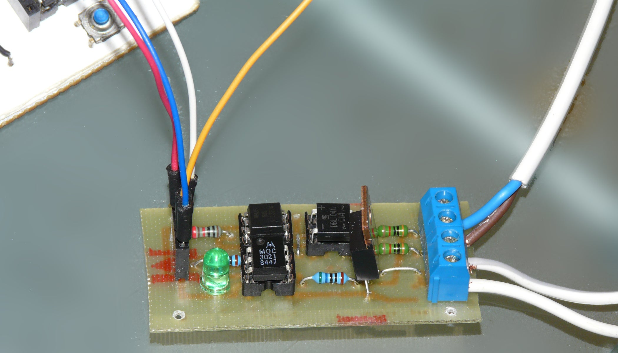 Arduino Controlled Light Dimmer 16 Steps Homebuilt Solid State Relay Circuit Board Component Layout