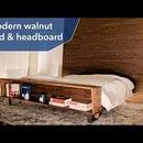 Modern Walnut Bed & Headboard | DIY