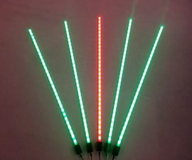 WiFi Mesh Synchronized LED Bars