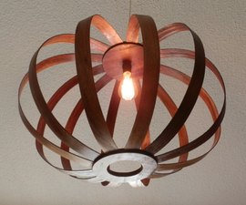 Pendant Lamp from Recycled Wood